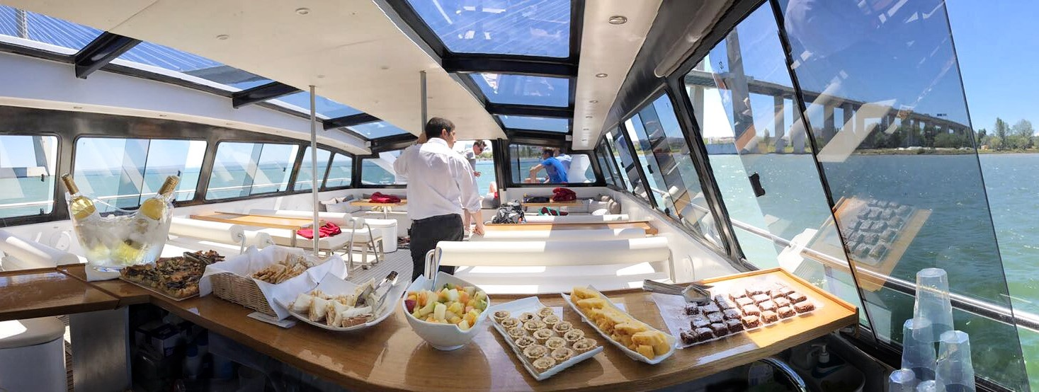 WaterX Shuttle - Buffet Service - Indoor Salon - Lisbon - Private Cruise